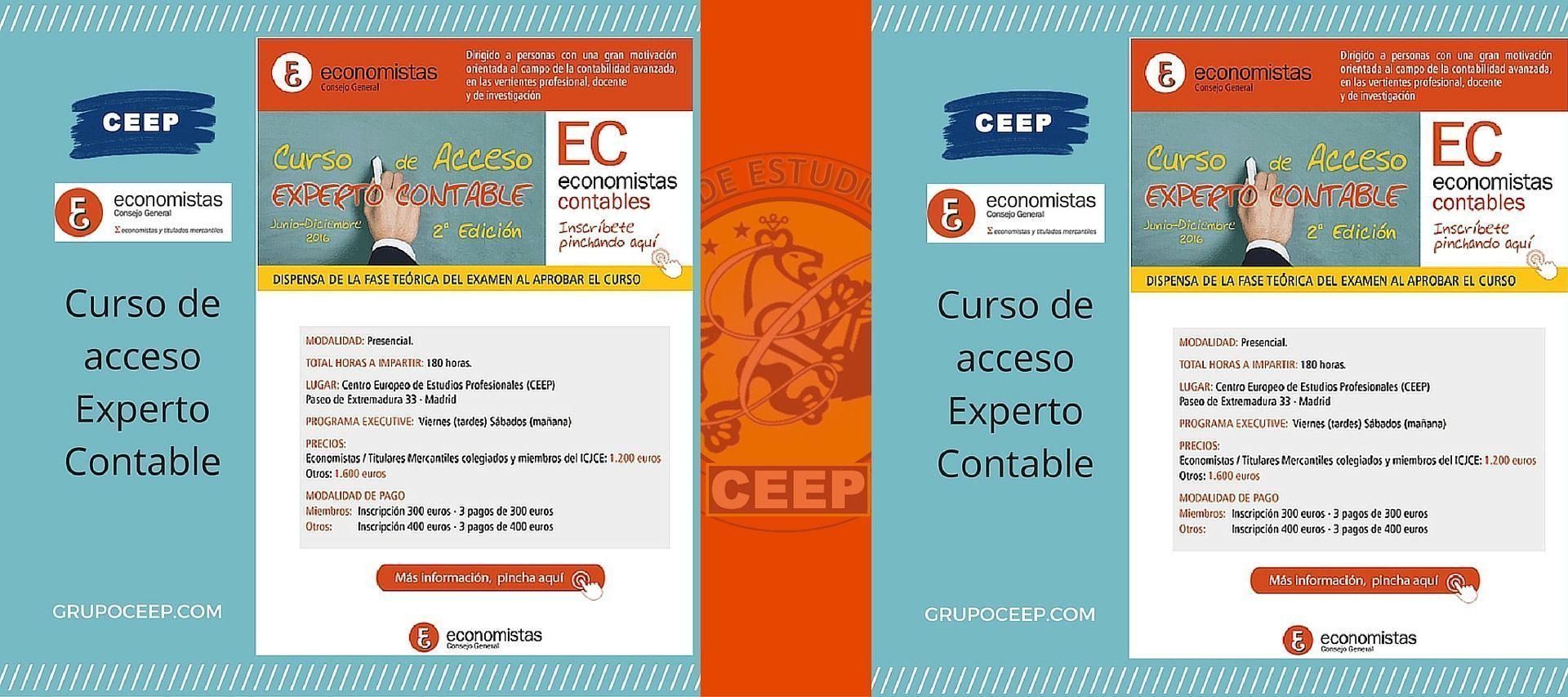 Curso de acceso a Experto Contable organizado por CEEP