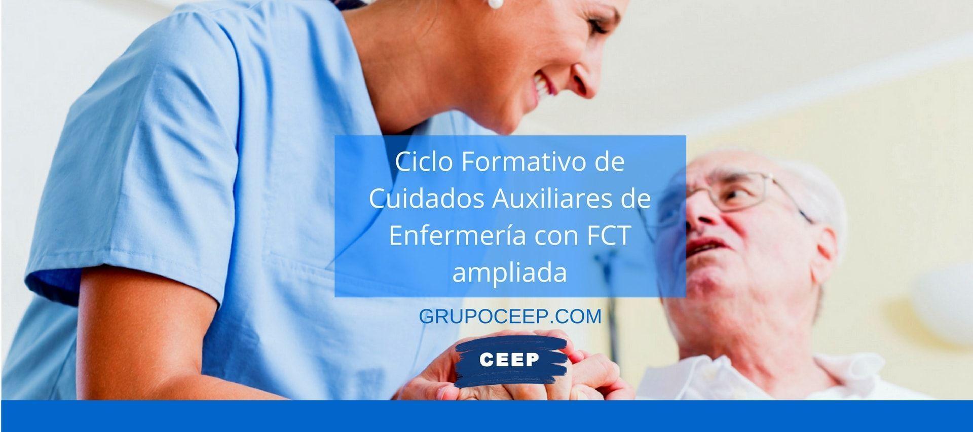 FP de Técnico en Cuidados Auxiliares de Enfermería con FCT ampliada