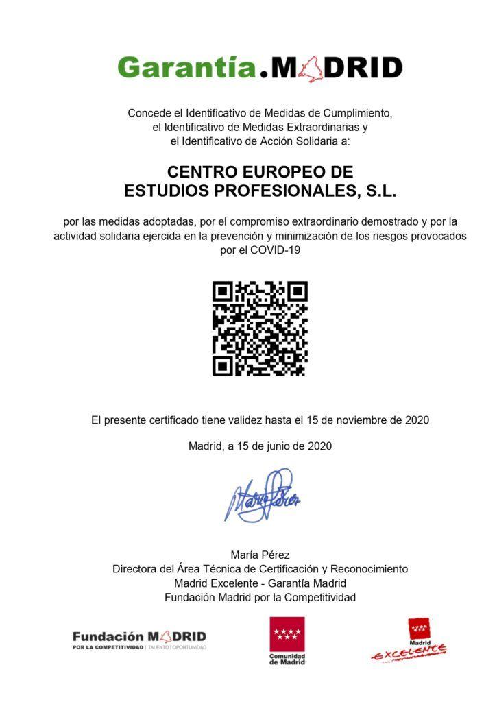 Certificado del Identificativo Garantia Madrid CEEP_page-0001